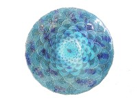 Schale Glas - Fan Sky - XL - 41 cm - Zenza