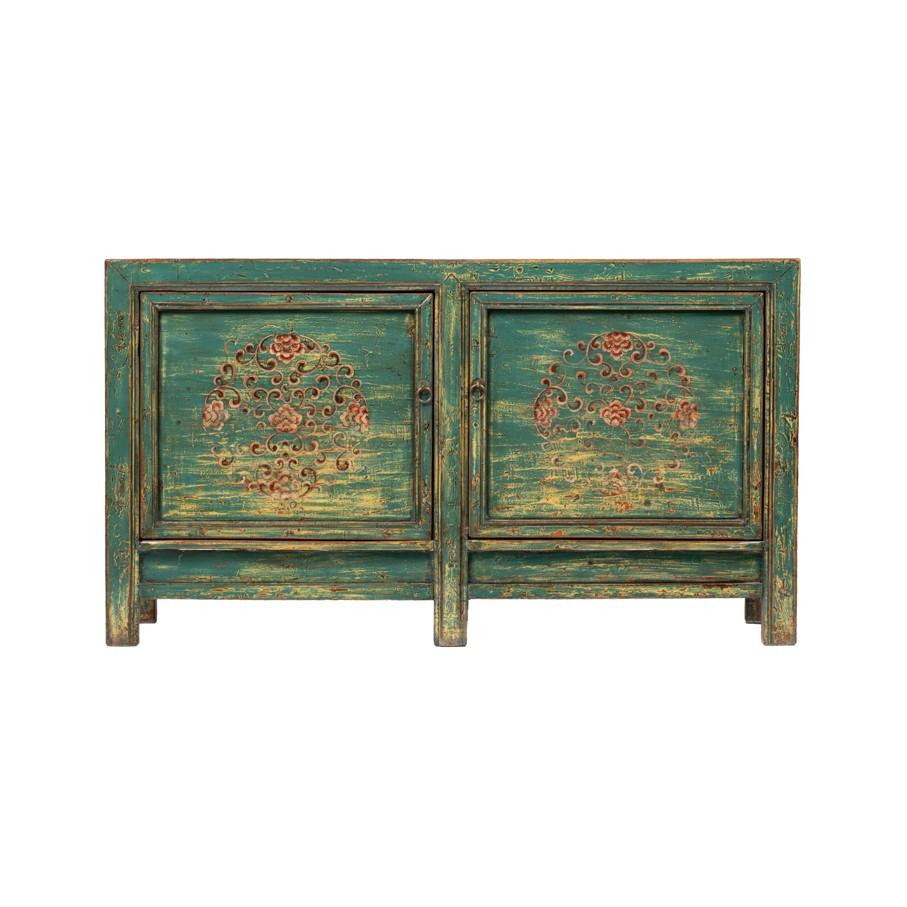 Kommode Gansu - China Möbel - Türkis/Blau - Original ca. 80 Jahre alt