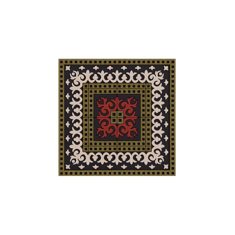 Untersetzer Silikon - Coaster Sejjadeh Zen Red - 9x9cm