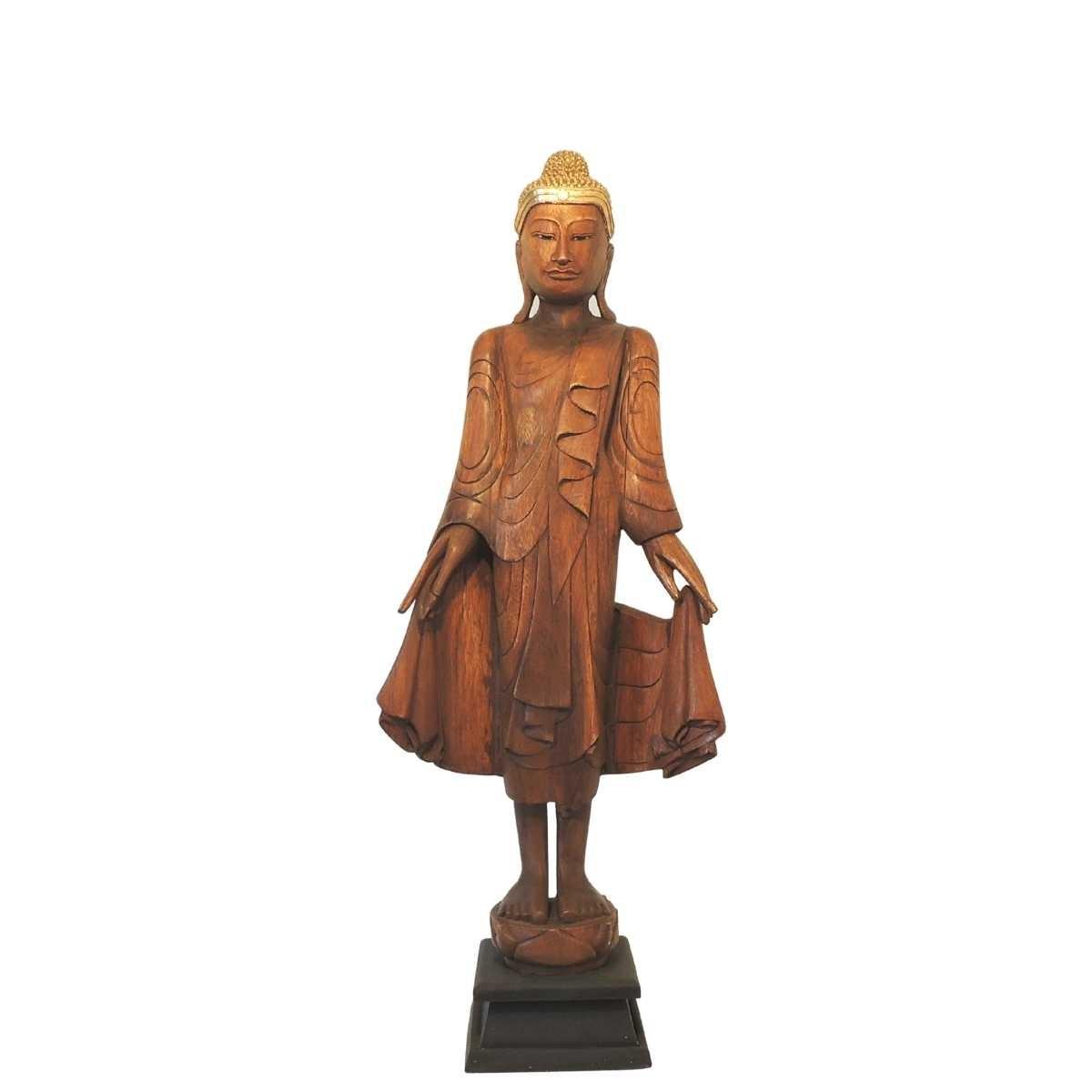 "Buddha Figur Holz ""Khao Sok Nature"" Unikat ca. 113 cm"