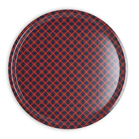 Tablett Vagabonde - rund D38cm - Birkenfurnier