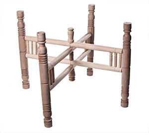 Holzuntergestell für Teetablett D90 cm - Handwerk - Zenza
