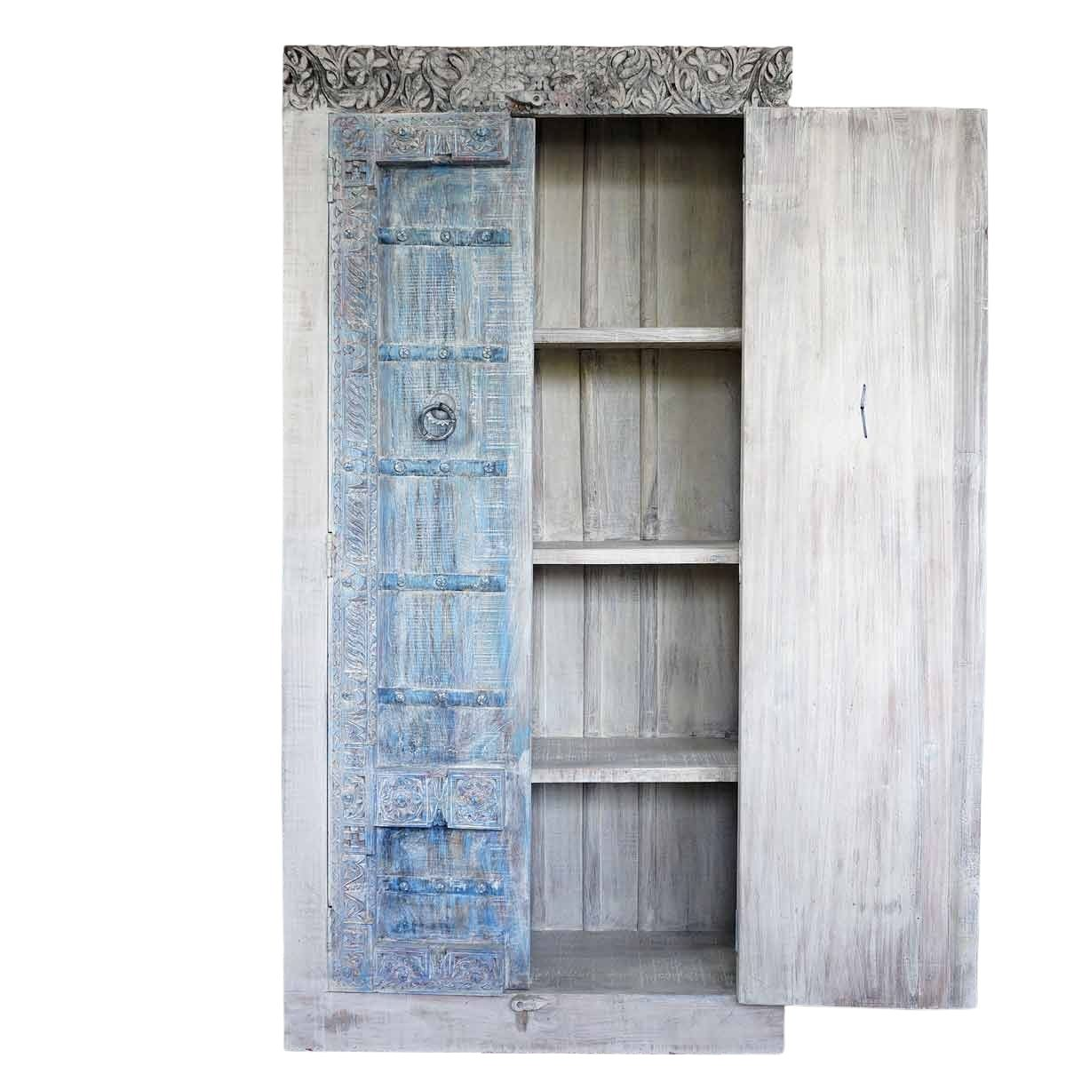 Indischer Schrank Unikat A mit alter Original Türe eines Havelis