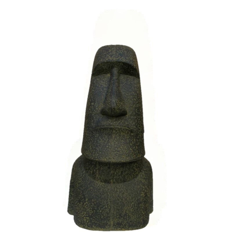 Moai Kopf - 120 cm - Steinguss - 90 kg - ein Highlight für Ihr Zuhause - Indonesien