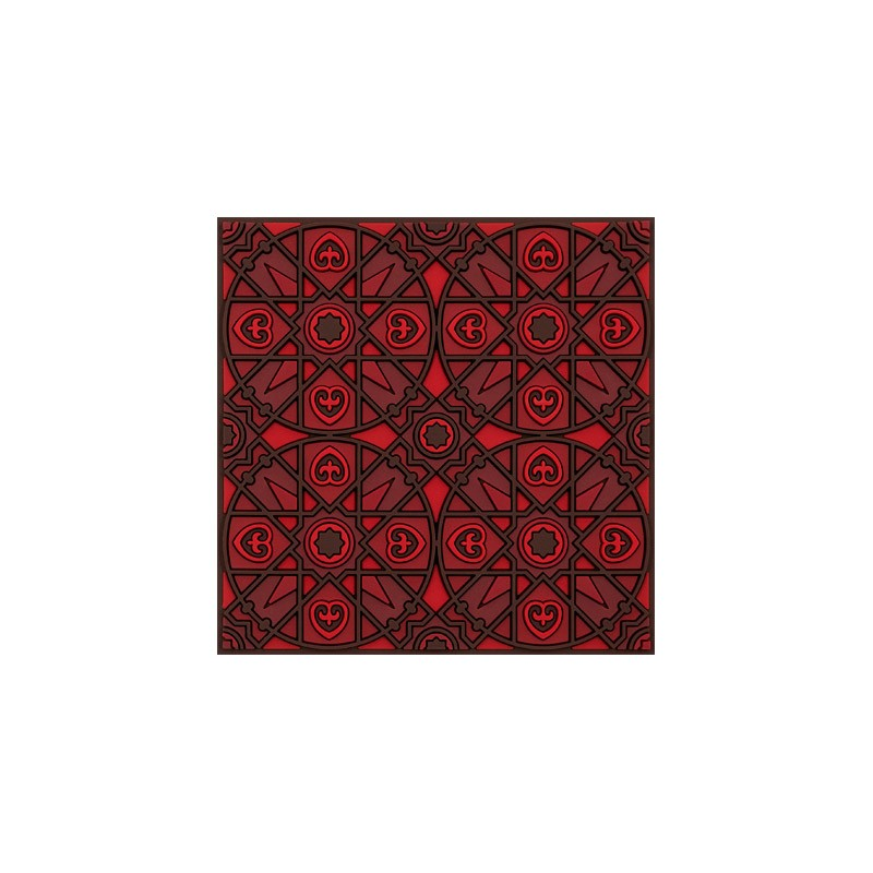 Untersetzer Silikon - Coaster Kalea Red - 9x9cm