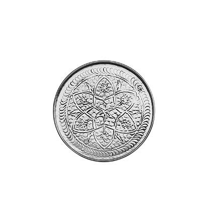Tablett - Alu - Ø28cm - Kashmir Style - Handwerk Indien - Van Verre