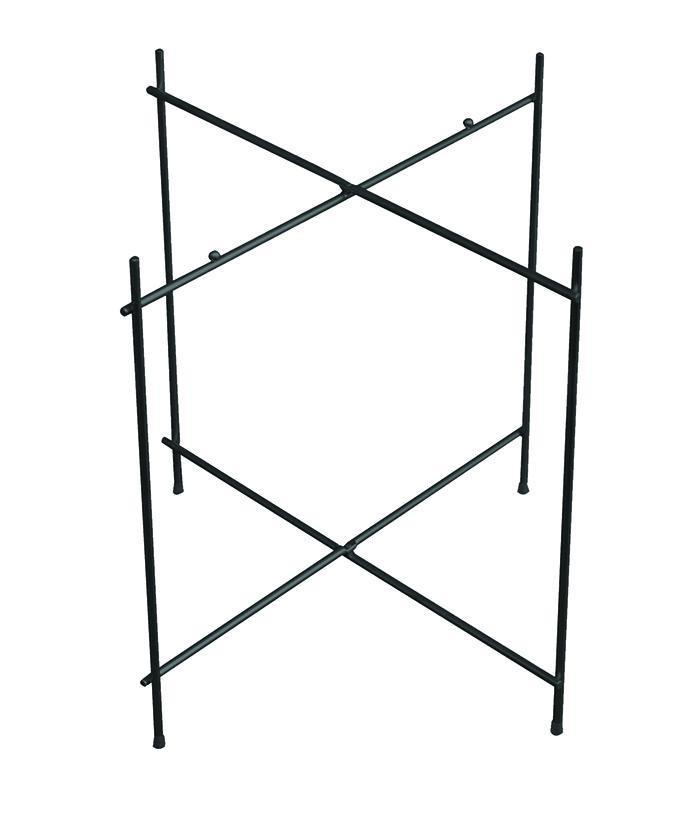 Untergestell schwarz - klappbar - Metall lackiert - D52 cm / H48cm