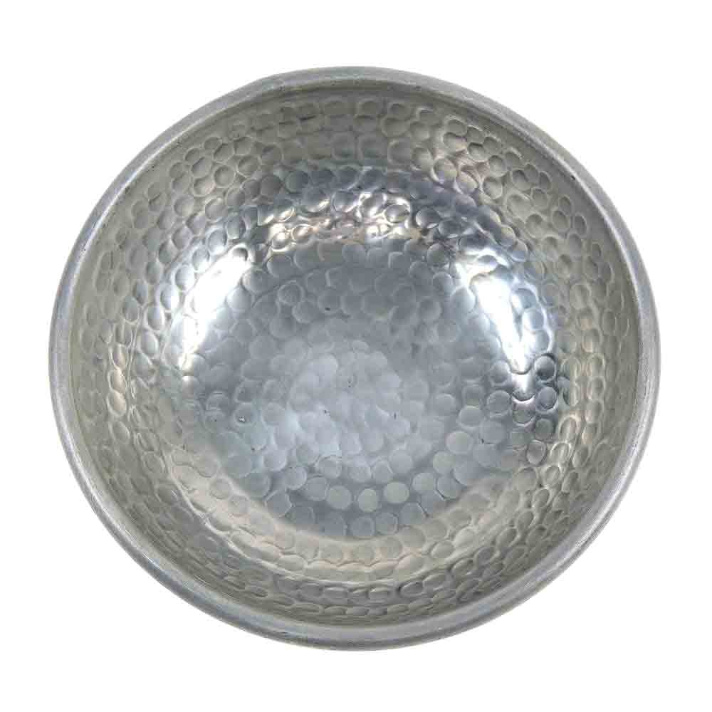 Bowl / Schüssel - Alu - Ø17cm - Hammered Style - Handwerk Indien - Van Verre