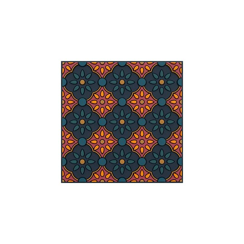 Untersetzer Silikon - Zahra Orange - 9x9cm