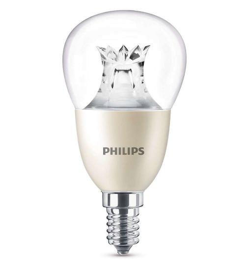 Leuchtmittel E14 - LED WarmGlown Philips klar - 8W wie 60W - dimmbar 2200 bis 2700 Kelvin