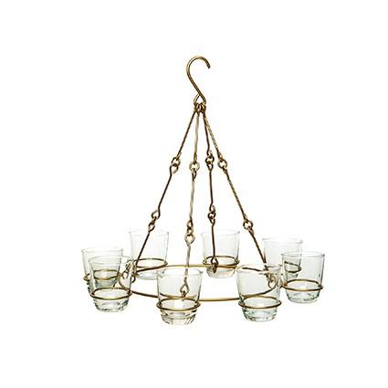 Teelicht Hänger goldfarben matt - 8 Windlichter - Handwerk - Van Verre
