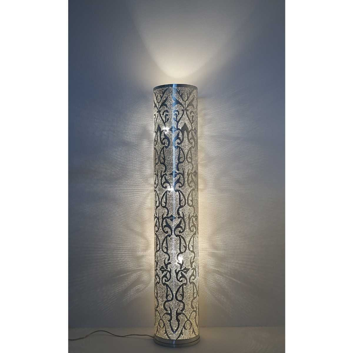Stehlampe Tipua Filigree Large - versilbert - Handwerk