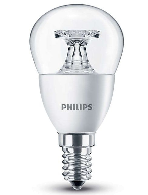 E14 - 5,5W wie 40W - nicht dimmbar - klar - Philips LED CoreProLuster warm white