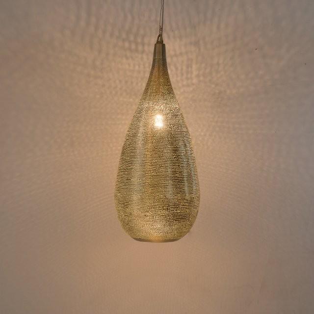Hängelampe - Elegance Filisky Large - goldfarben - Zenza