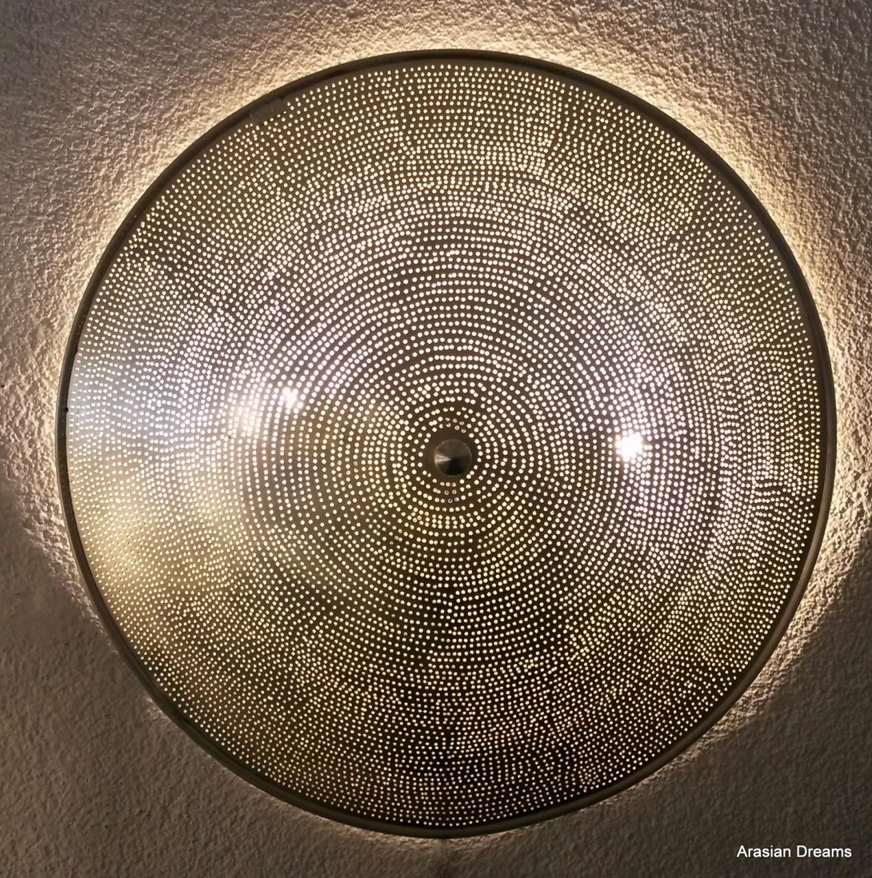 Wandlampe / Deckenlampe - 50 cm - versilbert - Filisky XLs - Zenza