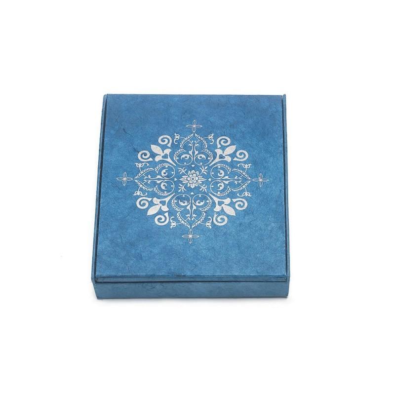 Schrein Altar Bilderrahmen blau-silber Papier