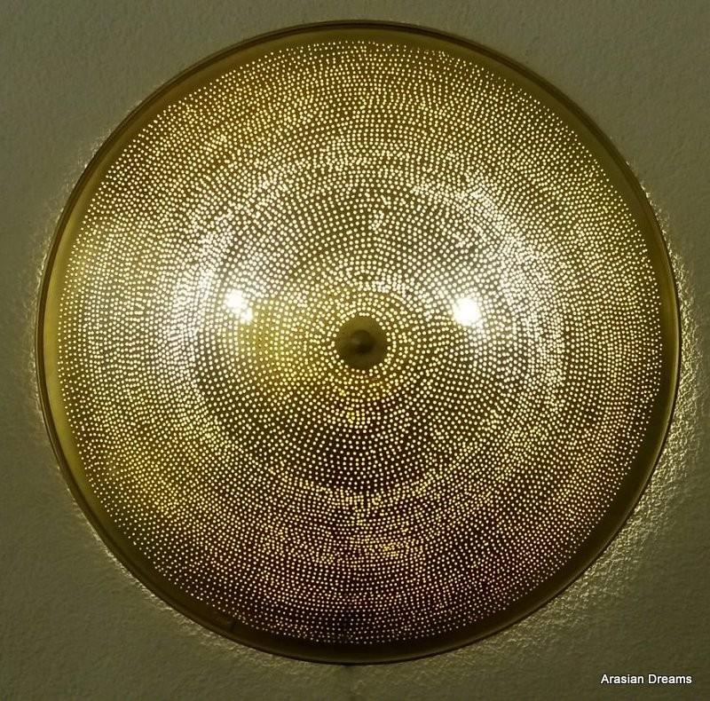 Wandlampe / Deckenlampe - 60 cm - goldfarben / Sonderedition - Filisky XL- Zenza