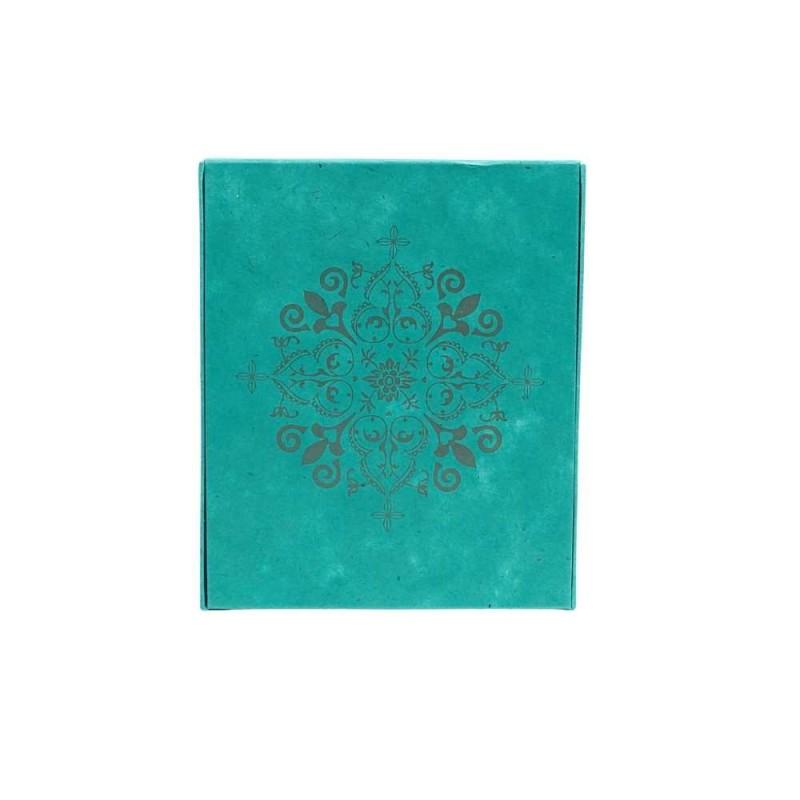Schrein Altar Bilderrahmen aqua-gold Papier