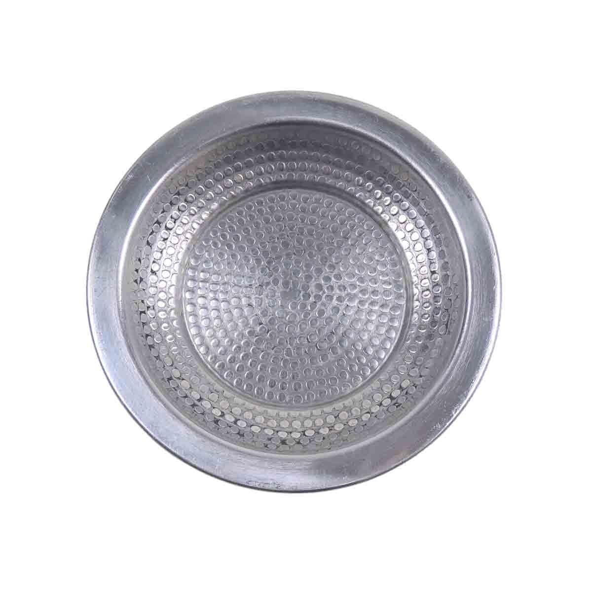 Tablett Aluminium D12cm Handwerk Indien van verre