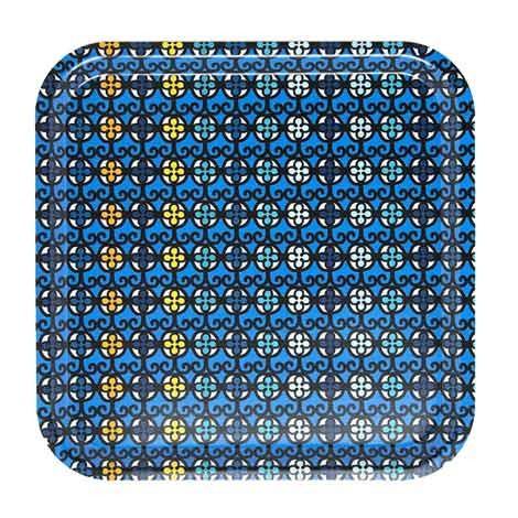 Tablett Sursock Vitrail 32x32cm Birkenfurnier