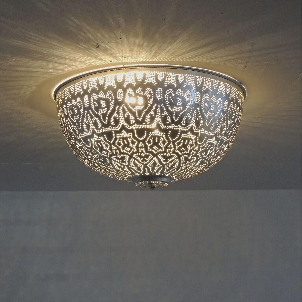 Deckenlampe - Ulo Filigrain - D 45 cm - versilbert