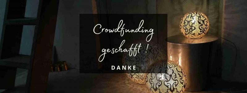 Crowdfunding orientalische Lampen geschafft
