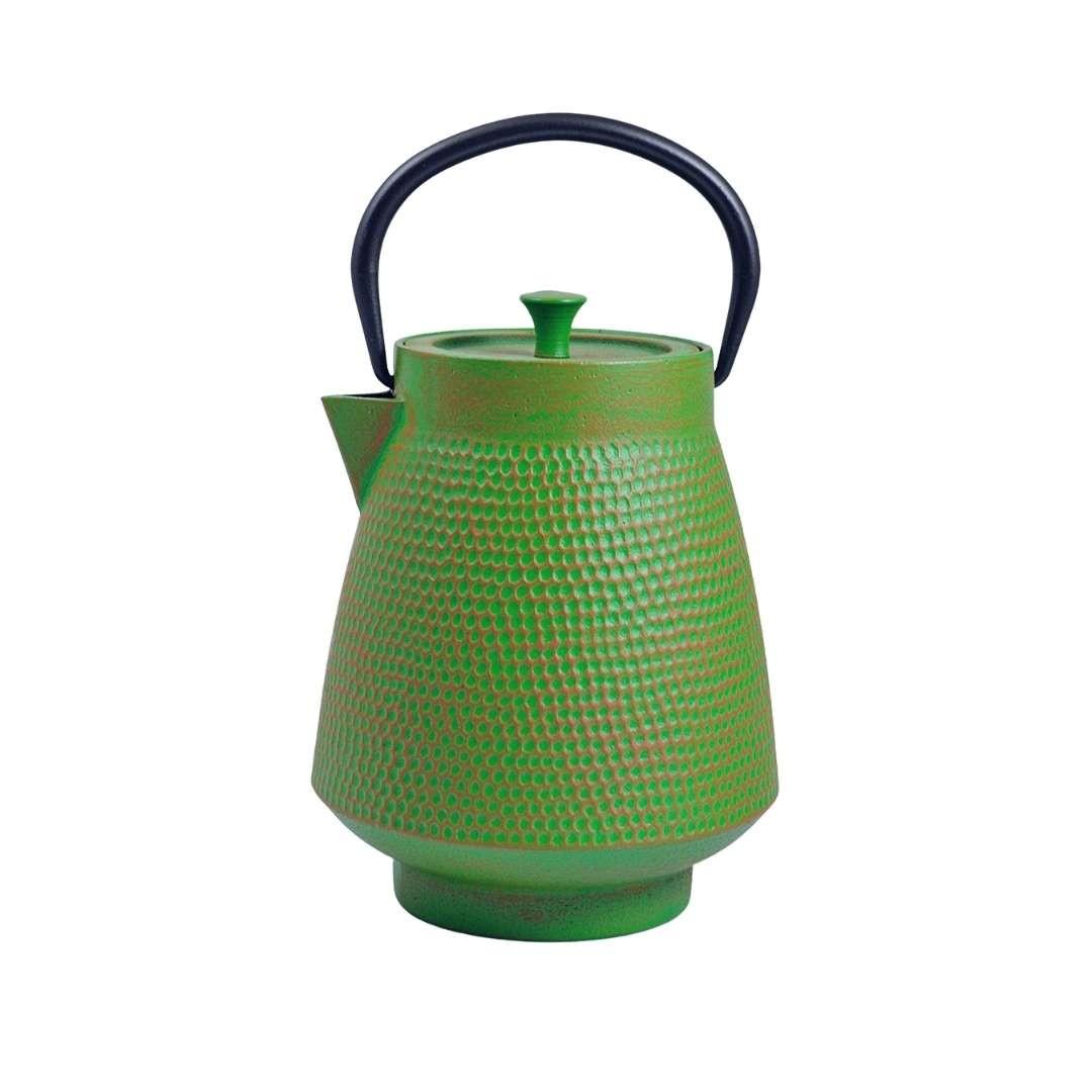Teekanne Deng 1.1L grün-orange inkl. Sieb