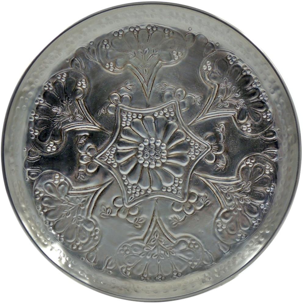Teetablett / Dekoteller - 48 cm - Aluminium bearbeitet - Muster B