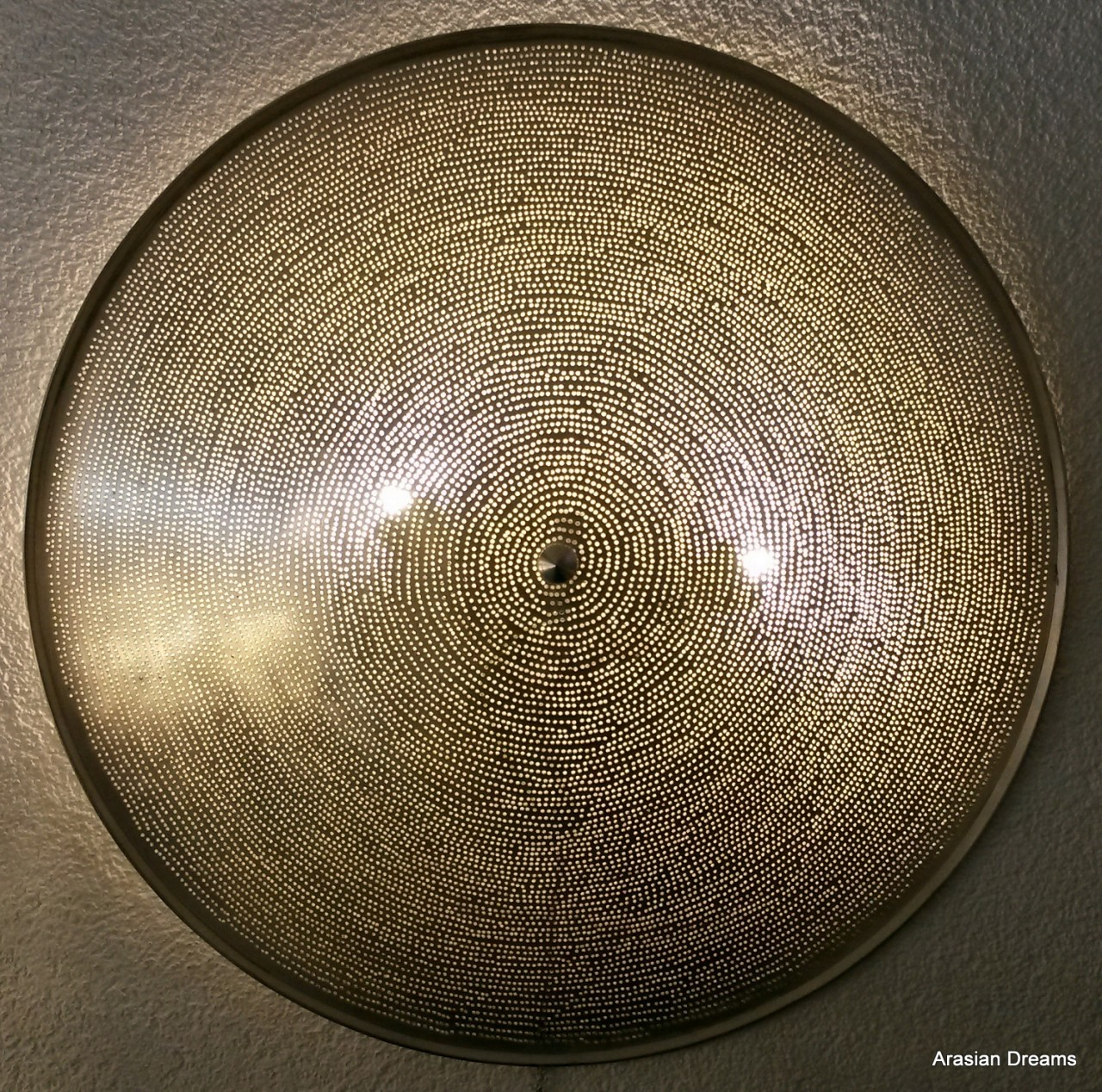 Wandlampe / Deckenlampe - 60 cm - versilbert - Filisky XL - Zenza