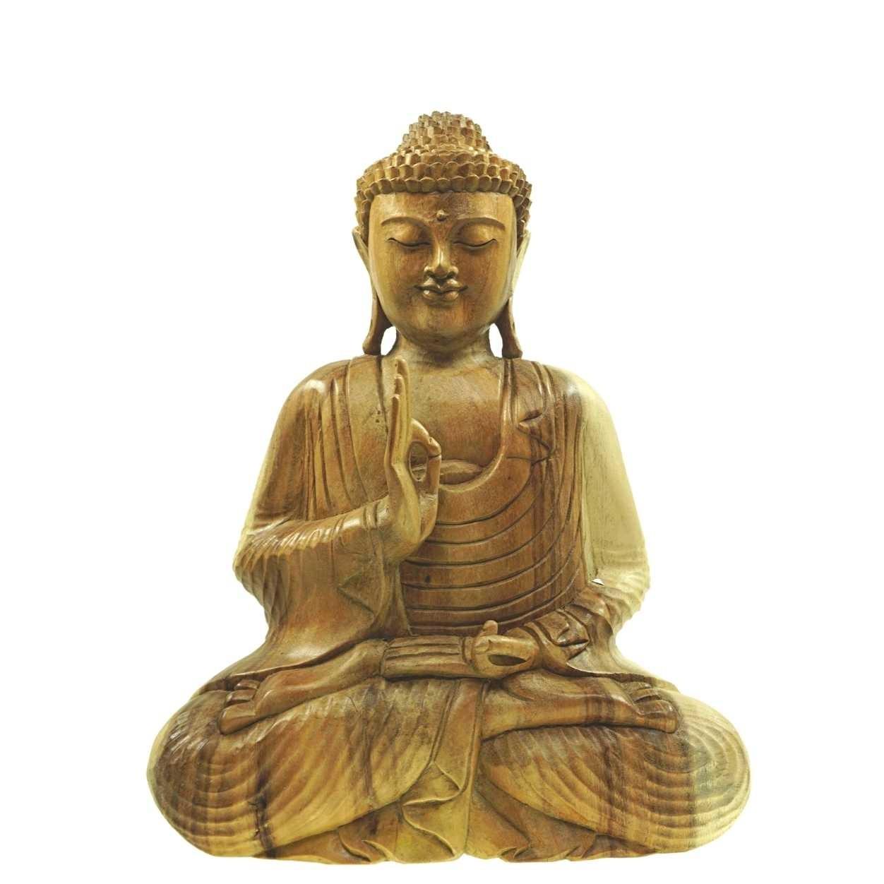 Buddha Masapun 52 cm Natur Suarholz Unikat