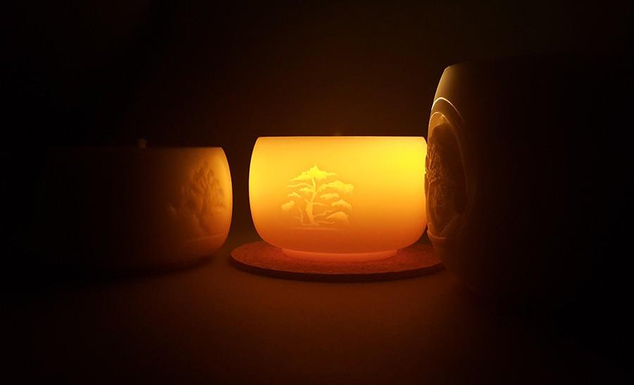 Yoga Kerze Bonsai Small - Kerze aus Rapswachs - handgemacht - 25h +/-