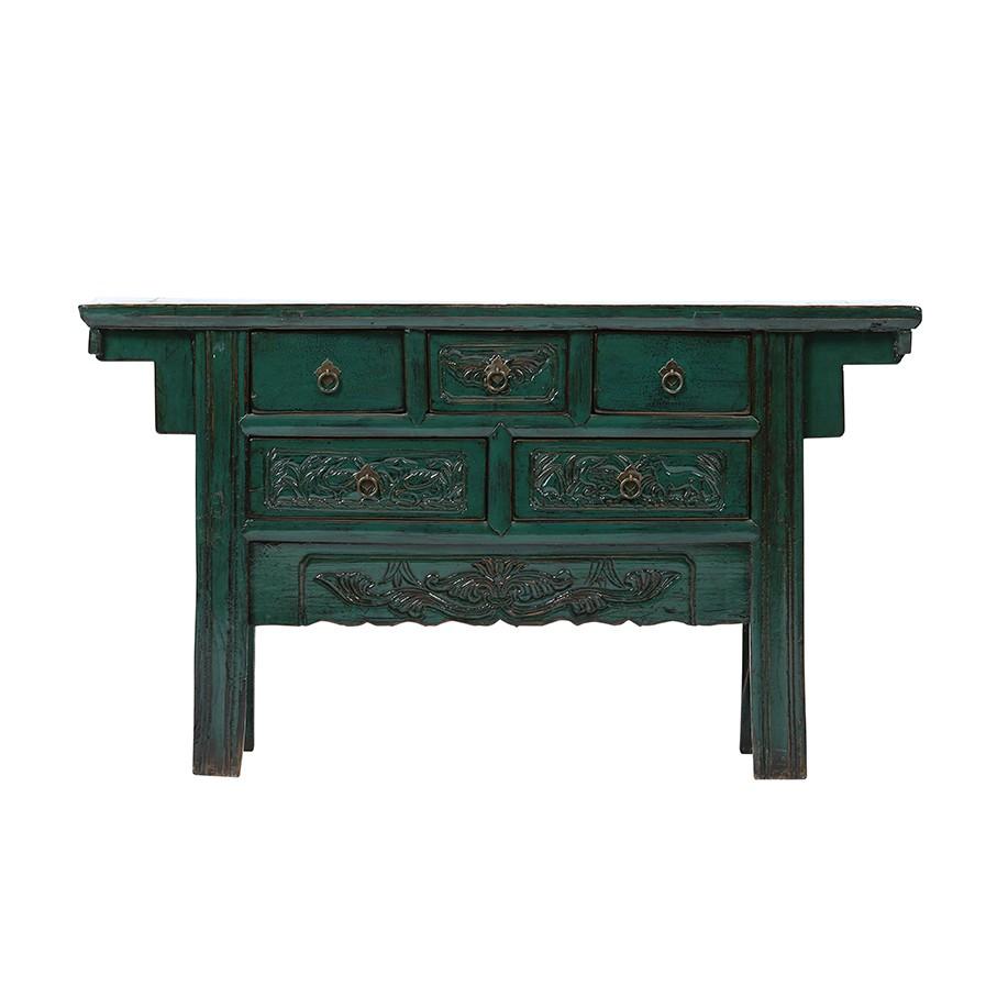 Kommode Shanxi Original China Möbel Blau/Grün ca. 80 Jahre alt