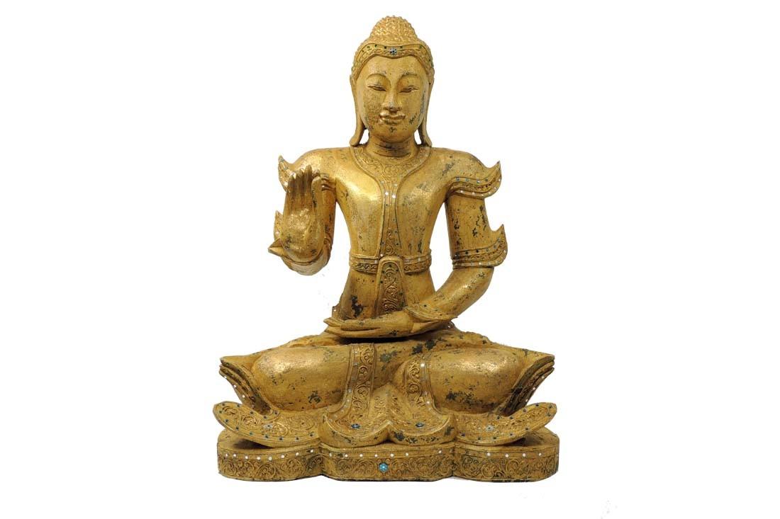 Buddha Sathon - ca. 70 cm Höhe - Unikat - Handwerk Thailand
