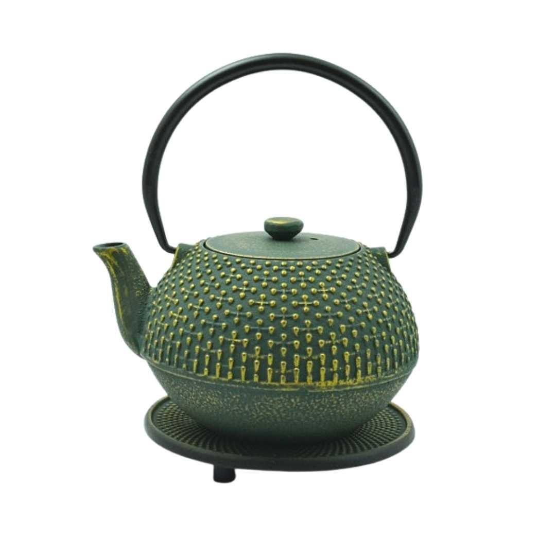 Teekanne Hoshi 0.9L grün inkl. Untersetzer und Teesieb