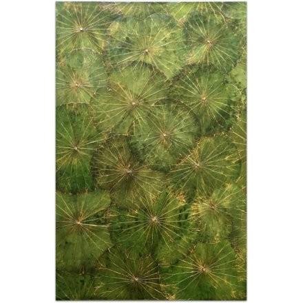 Lotusart aus Lotusblättern - 80 x 120 - Farbe Grün G2 - SHERMANS®